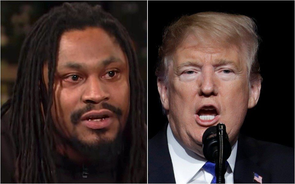 Westlake Legal Group 5c42dc63240000d9009fa07a NFL Star Marshawn Lynch Goes Full Beast Mode On 'Motherf**ker' Trump