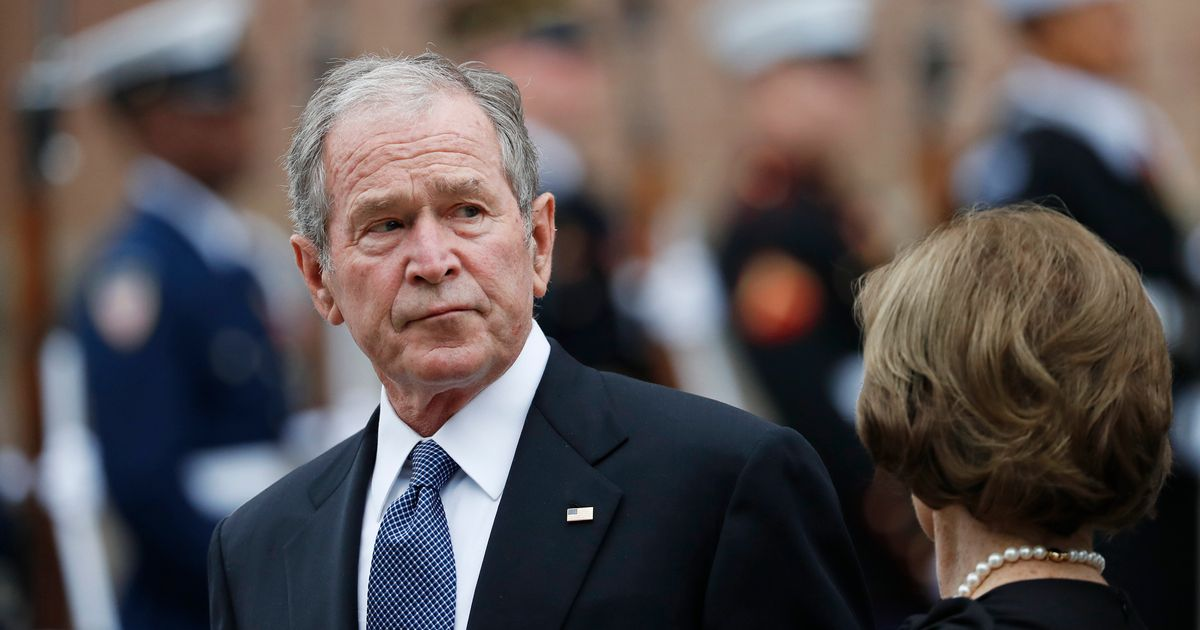 George W. Bush Calls For End To Shutdown With Pizza Delivery - HuffPost image