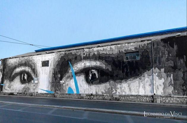 Ντα Βίντσι: Η γιγάντια τοιχογραφία του ΙΝΟ στην οδό Πειραιώς