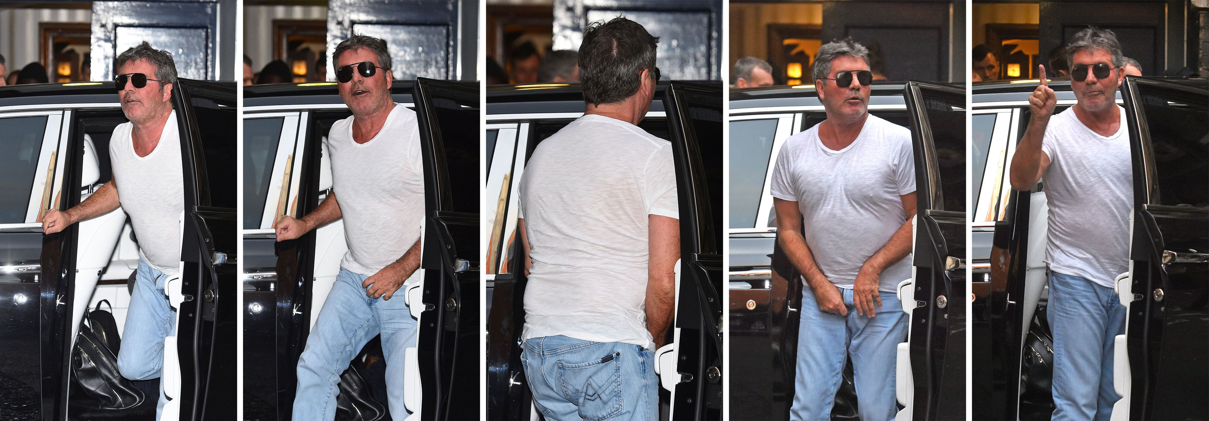 'SHUT UP': Simon Cowell Left Red-Faced At Wardrobe Malfunction As He Arrives For 'Britain's Got