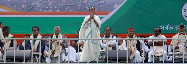 Mamata Banerjee speaking during