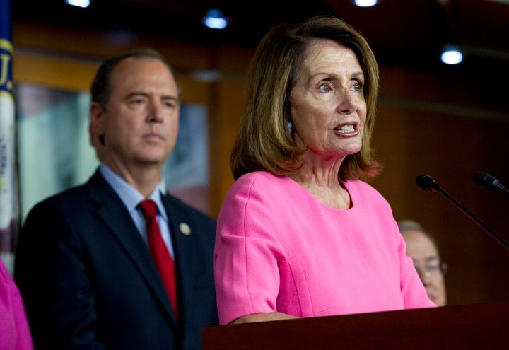 House Speaker Nancy Pelosi and Rep. Adam Schiff, chairman of the House intelligence committee.