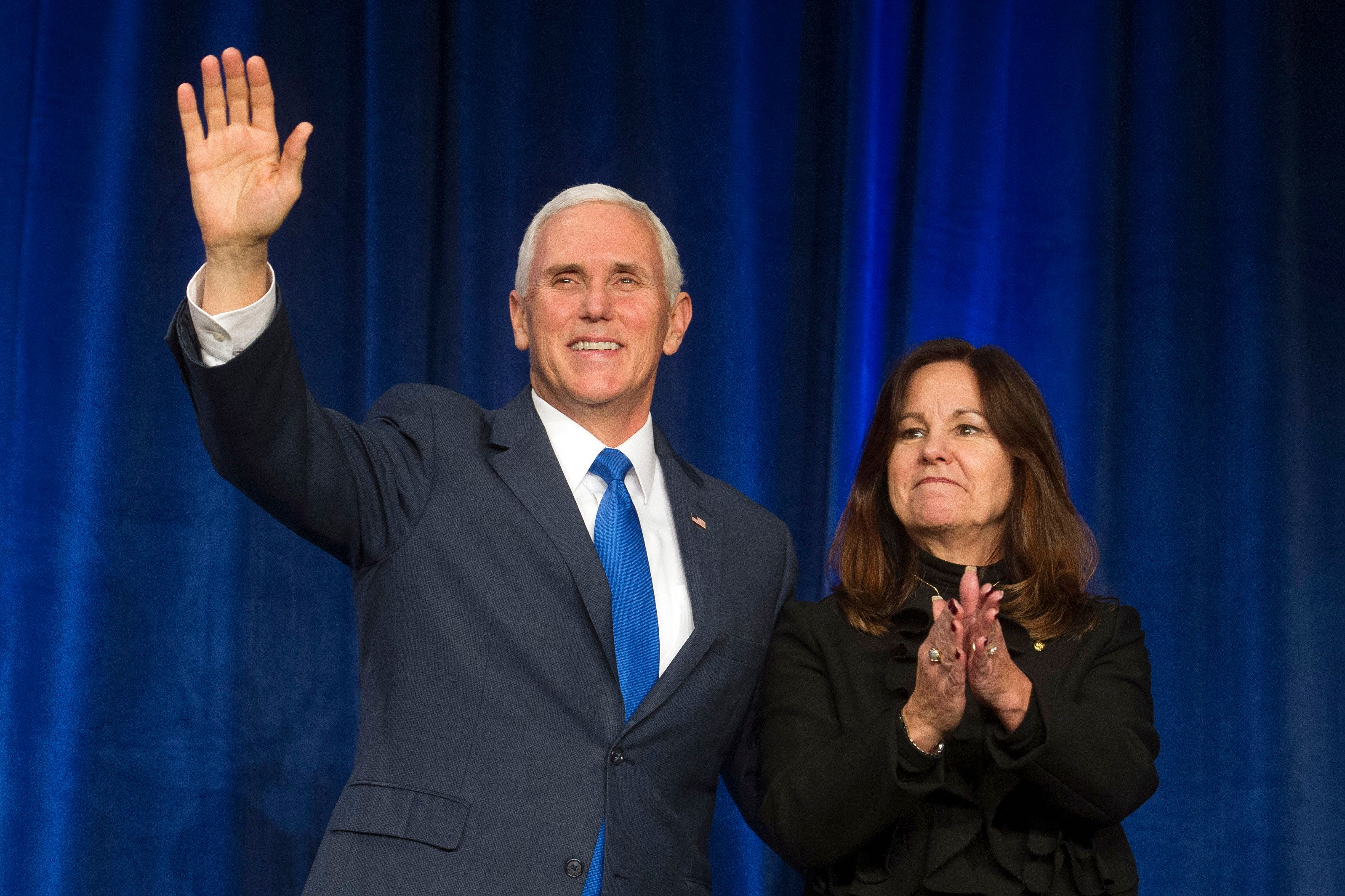 Vice President Mike Pence and his wife, Karen Pence, appeared at events for the anti-abortion March for Life in Washingt