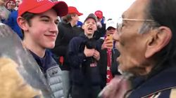 Viral Video Shows MAGA Hat-Wearing Teens Harassing Native American Vietnam