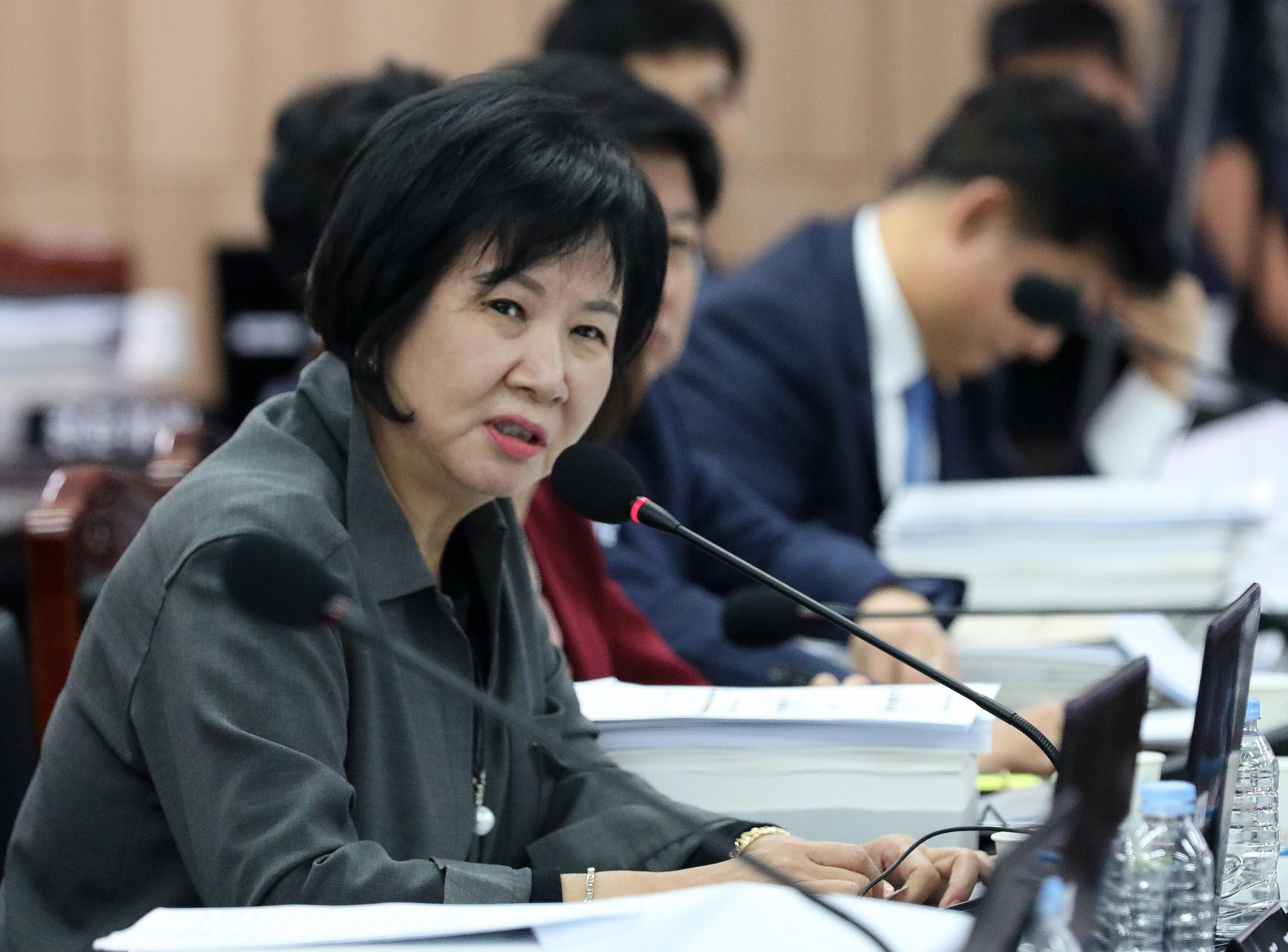 손혜원 의원이 20일 더불어민주당 탈당 의사를
