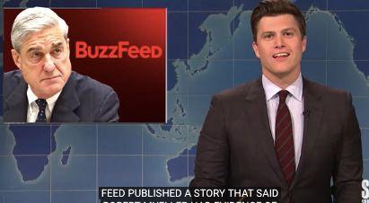 "Weekend Update scorches BuzzFeed ""fake news."""
