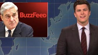 "Weekend Update scorches BuzzFeed ""fake news."""