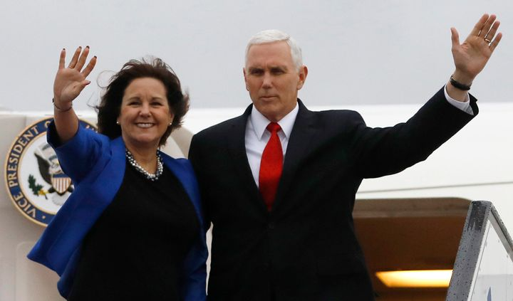 Karen Pence recently started teaching art classes at Immanuel Christian School in Northern Virginia, which discriminates agai
