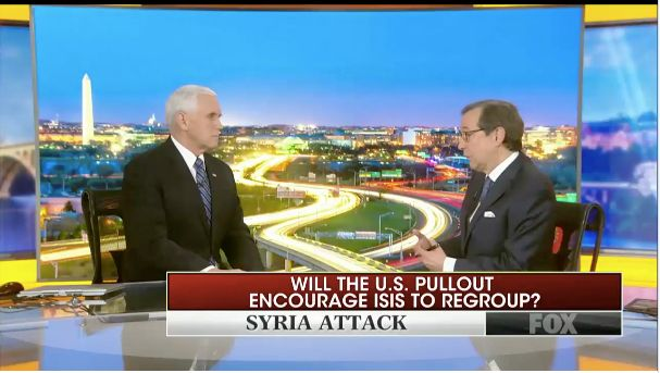 Fox News Chris Wallace Grills Mike Pence For Claiming ISIS Defeated Hours After Attack