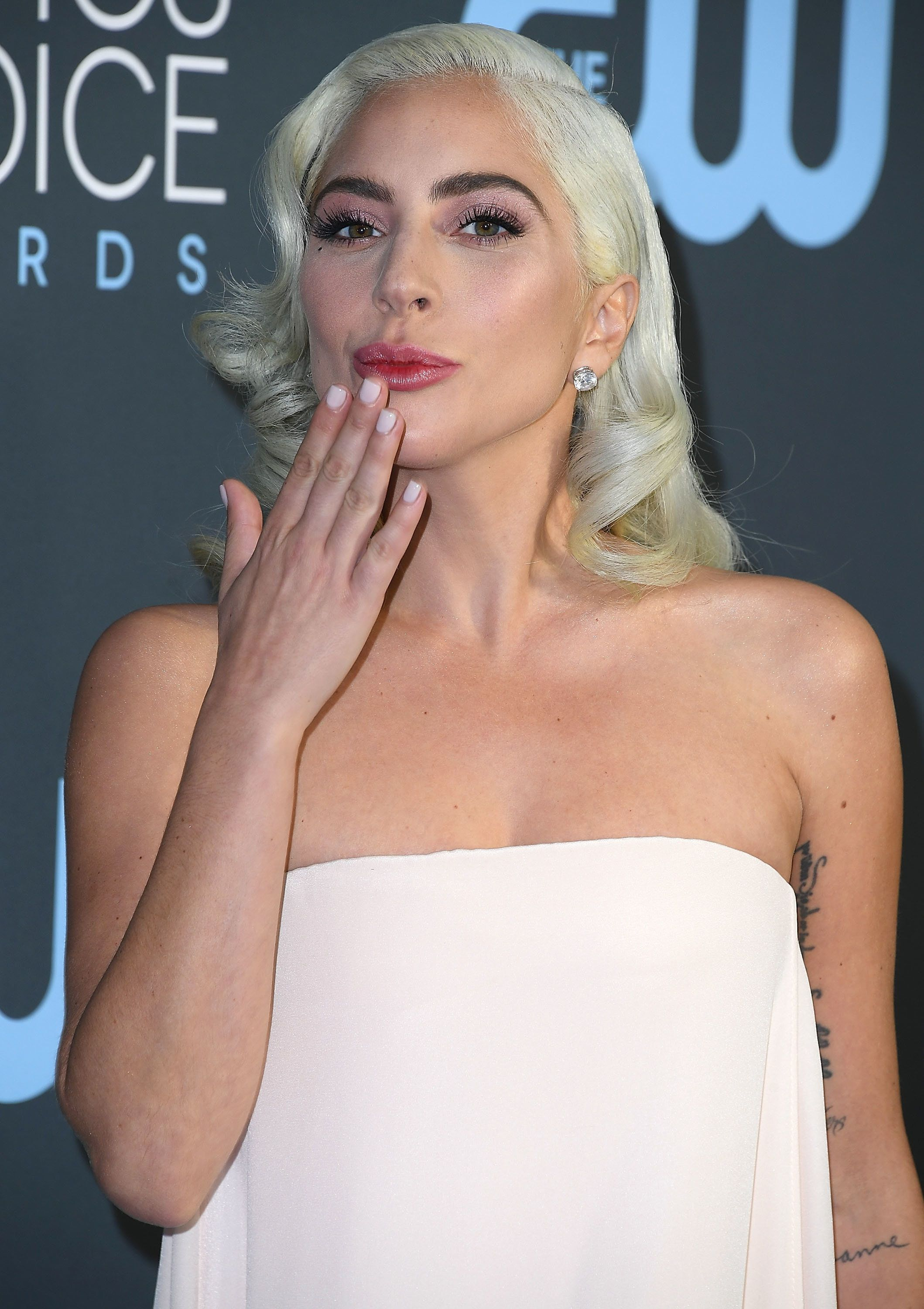 SANTA MONICA, CA - JANUARY 13:  Lady Gaga arrives at the The 24th Annual Critics' Choice Awards  attends The 24th Annual Critics' Choice Awards at Barker Hangar on January 13, 2019 in Santa Monica, California.  (Photo by Steve Granitz/WireImage)