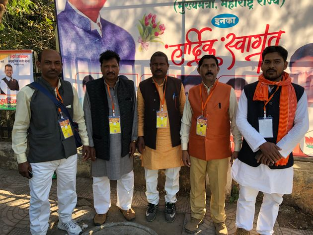 BJP SC wing office bearers from Uttar Pradesh during the party's Anusuchit Jati conclavein