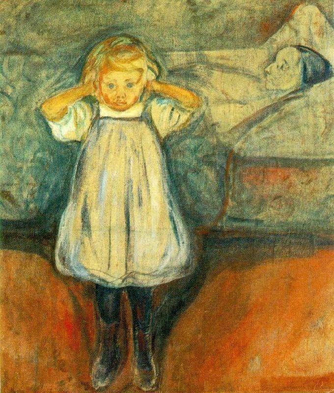 Εικ.3.Edvard Munch, The dead Mother, 1899-1900, Kunsthalle Bremen, Bremen,