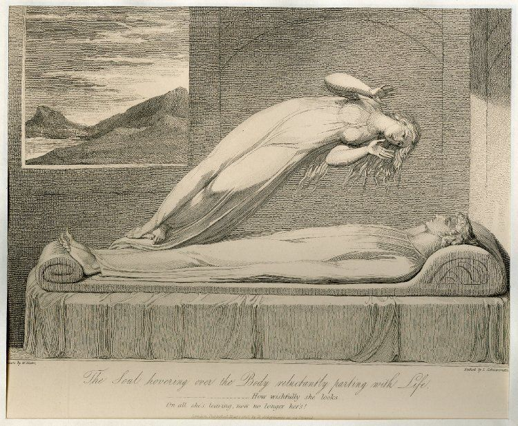 Εικ.6 William Blake,The Soul Hovering over the Body Reluctantly Parting with Life,...