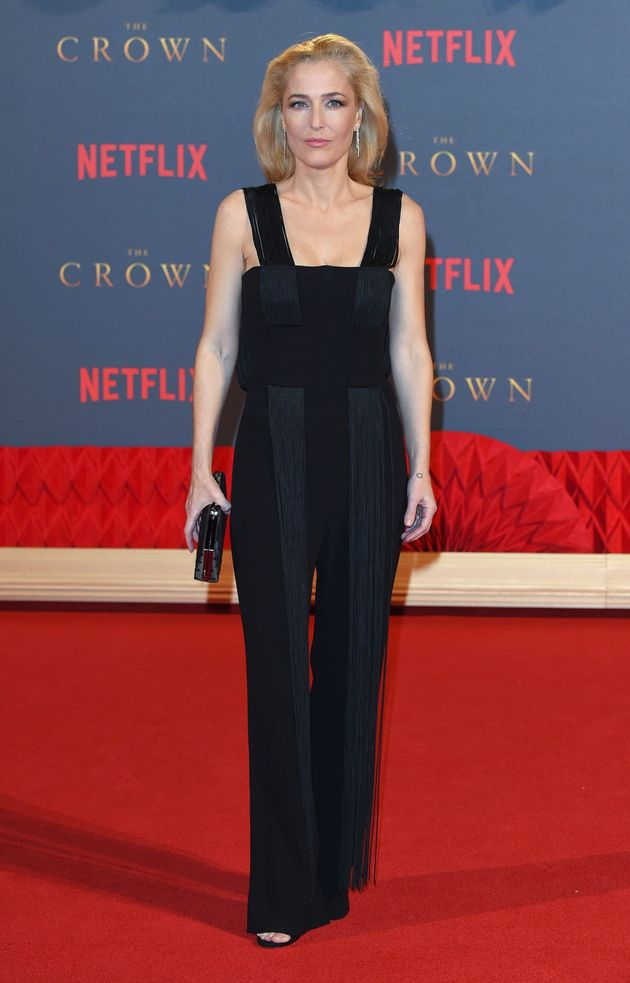 Gillian at the premiere of 'The Crown' in