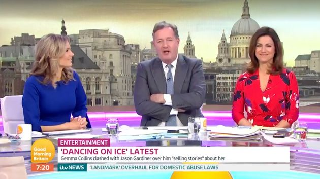 Piers Morgan defended Gemma Collins on 'Good Morning