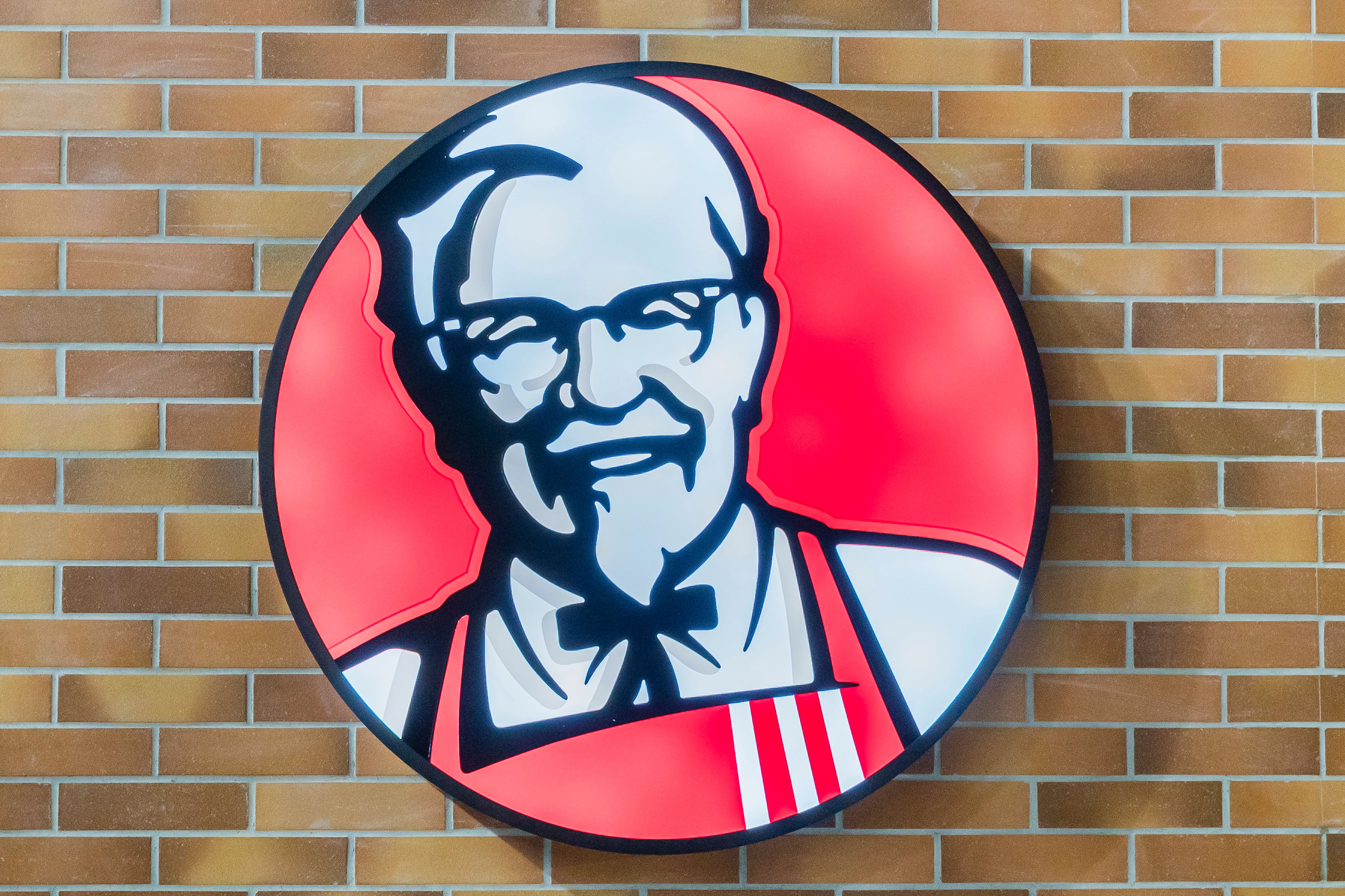 SHANGHAI, CHINA - AUGUST 10: Signage of KFC's is seen at Shanghai Pudong International Airport on August 10 2018 in Shanghai, China. (Photo by Yu Chun Christopher Wong/S3studio/Getty Images)