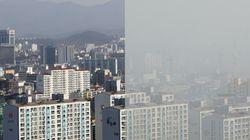 중국 한국 미세먼지 오염에