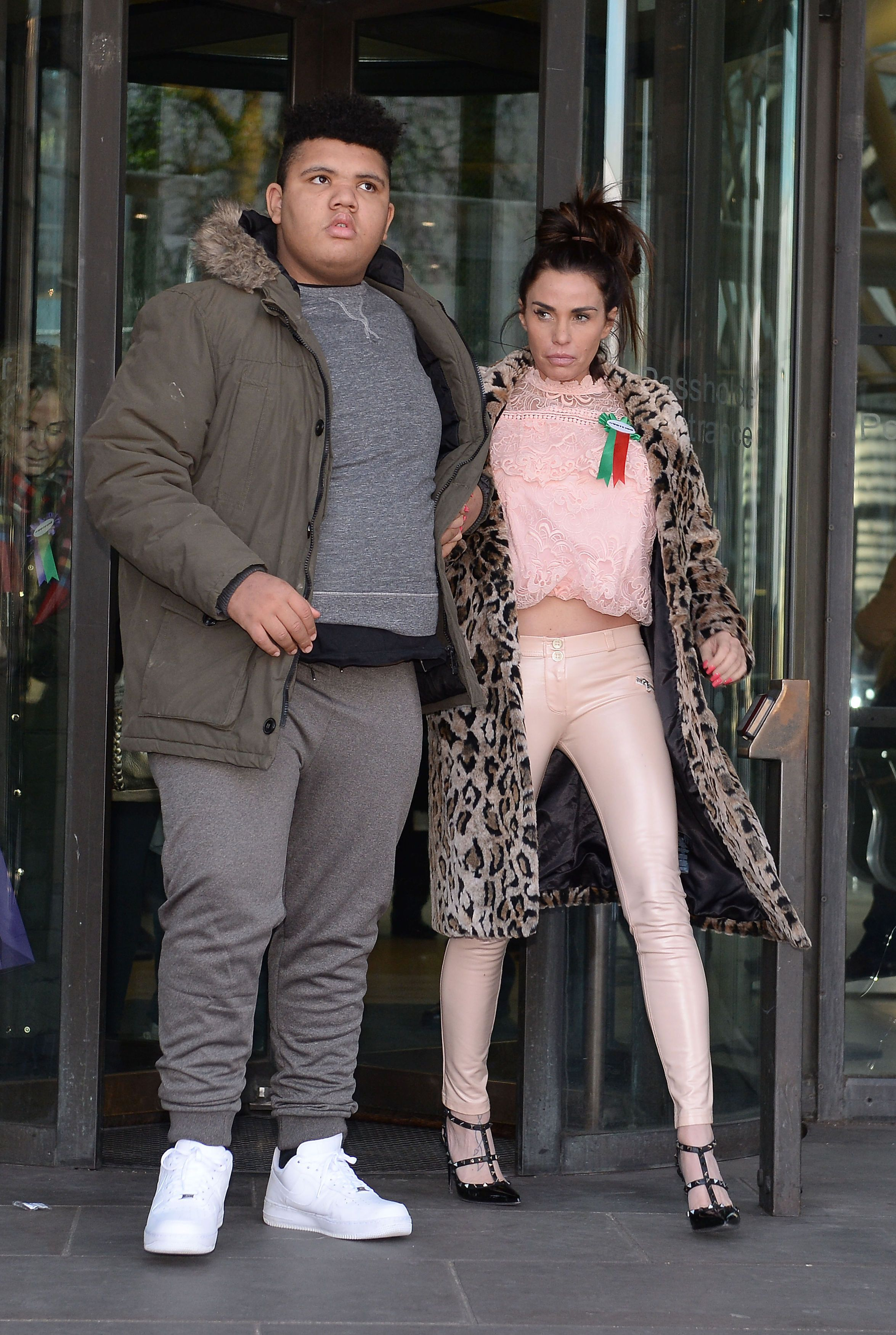 Katie Price with her son,