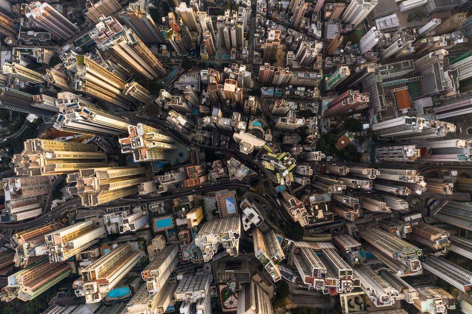 Au-dessus de la canopée de béton: Hong Kong vu du