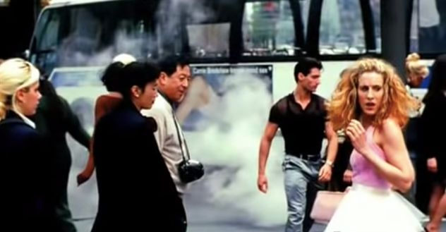 "Parker in the opening credits of ""Sex and the City,"" which ran from 1998 to 2004 on HBO."