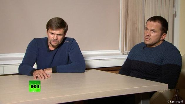 AlexanderPetrovand Ruslan Boshirov, who were formally accused of attempting to murder former...
