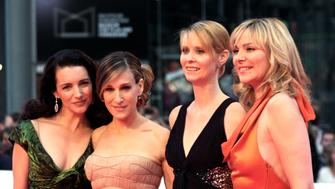 BERLIN - MAY 15:  Actresses Kristin Davis, Sarah Jessica Parker, Cynthia Nixon and Kim Catrall attend the German premiere of 'Sex And The City' at the Cinestar movie theatre on May 15, 2008 in Berlin, Germany.  (Photo by Anita Bugge/WireImage)