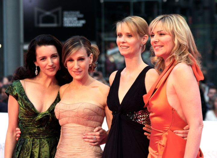 """Sarah Jessica Parker (second from left) teased the return of her """"Sex and the City"""" character Carrie Bradshaw in a cryptic In"""