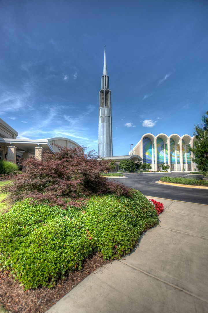 The First Baptist Church of Huntsville is one of the city's largest churches.