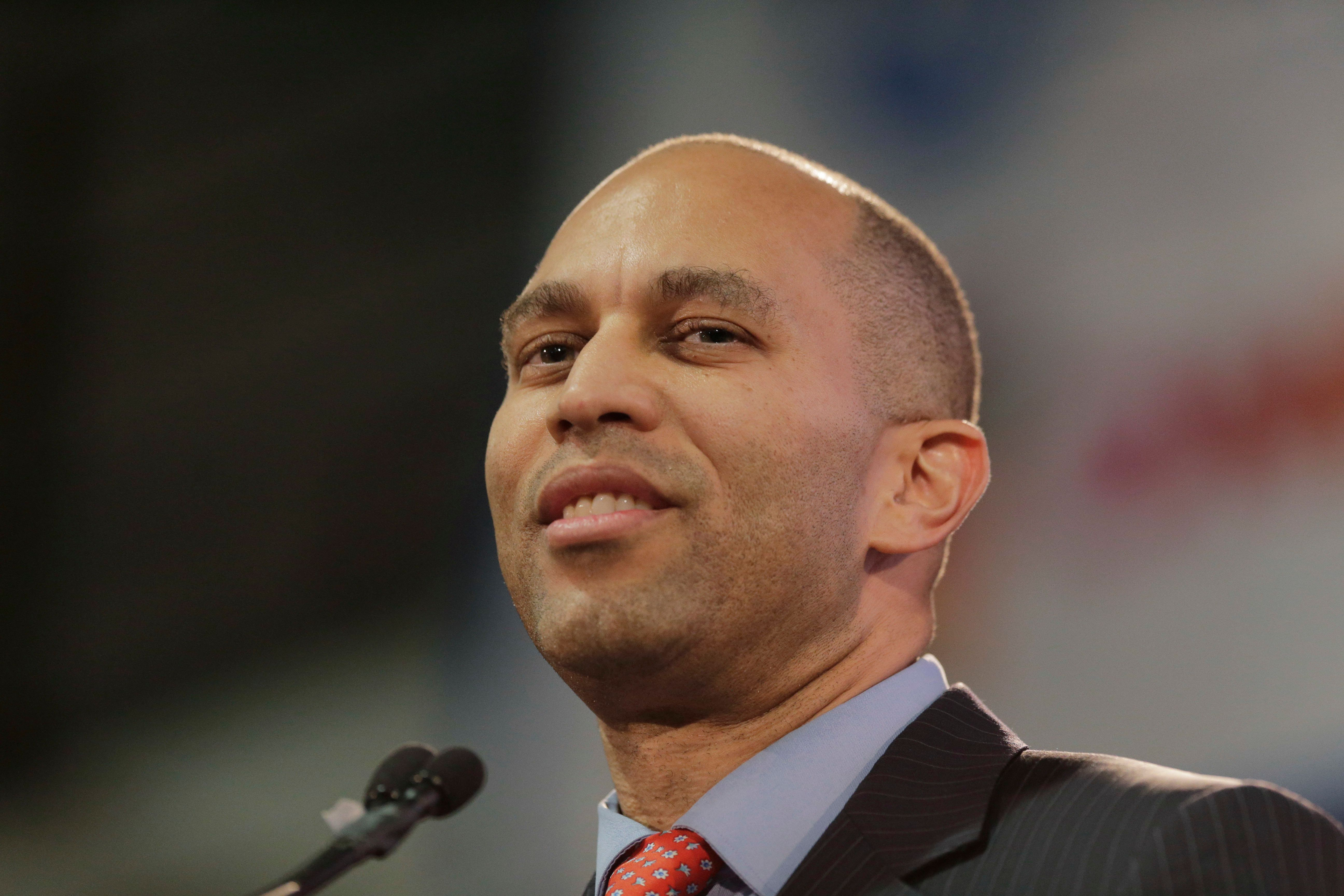 Rep. Hakeem Jeffries of New York speaks during an inauguration ceremony for the new Attorney General of New York, Letitia James, in New York, Sunday, Jan. 6, 2019. (AP Photo/Seth Wenig)