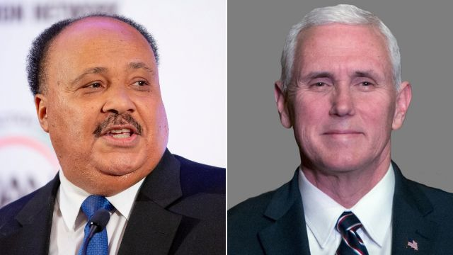 MLK's Son Criticizes Mike Pence My Father 'Was a Bridge Builder Not A Wall Builder'