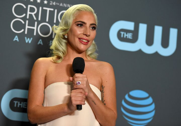 "Lady Gaga, shown here at the Critics' Choice Awards on Jan. 13 in Santa Monica, California, recently said, ""I am a"