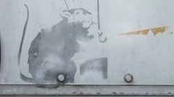 도쿄에 뱅크시의 작품으로 추정되는 그림이
