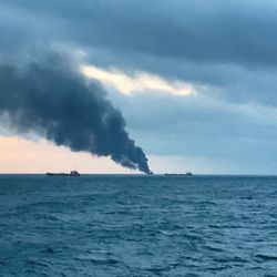 Two Ships With Indian Crew Catch Fire In Kerch Strait Off Russia's Coast, 11