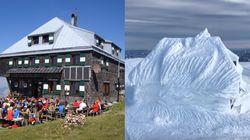 La neige a littéralement fait disparaître ce refuge de montagne en