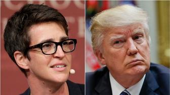 Rachel Maddow and Donald Trump