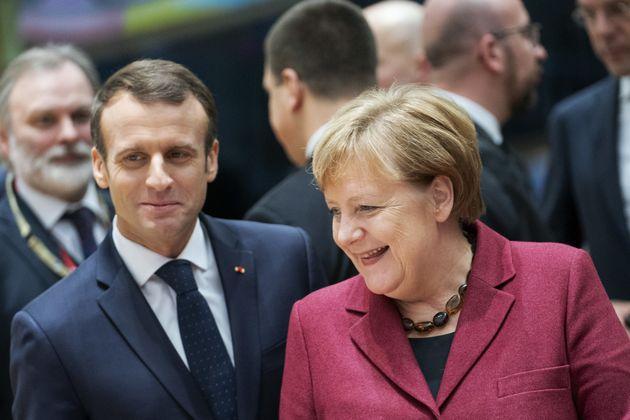Emmanuel Macron und Angela