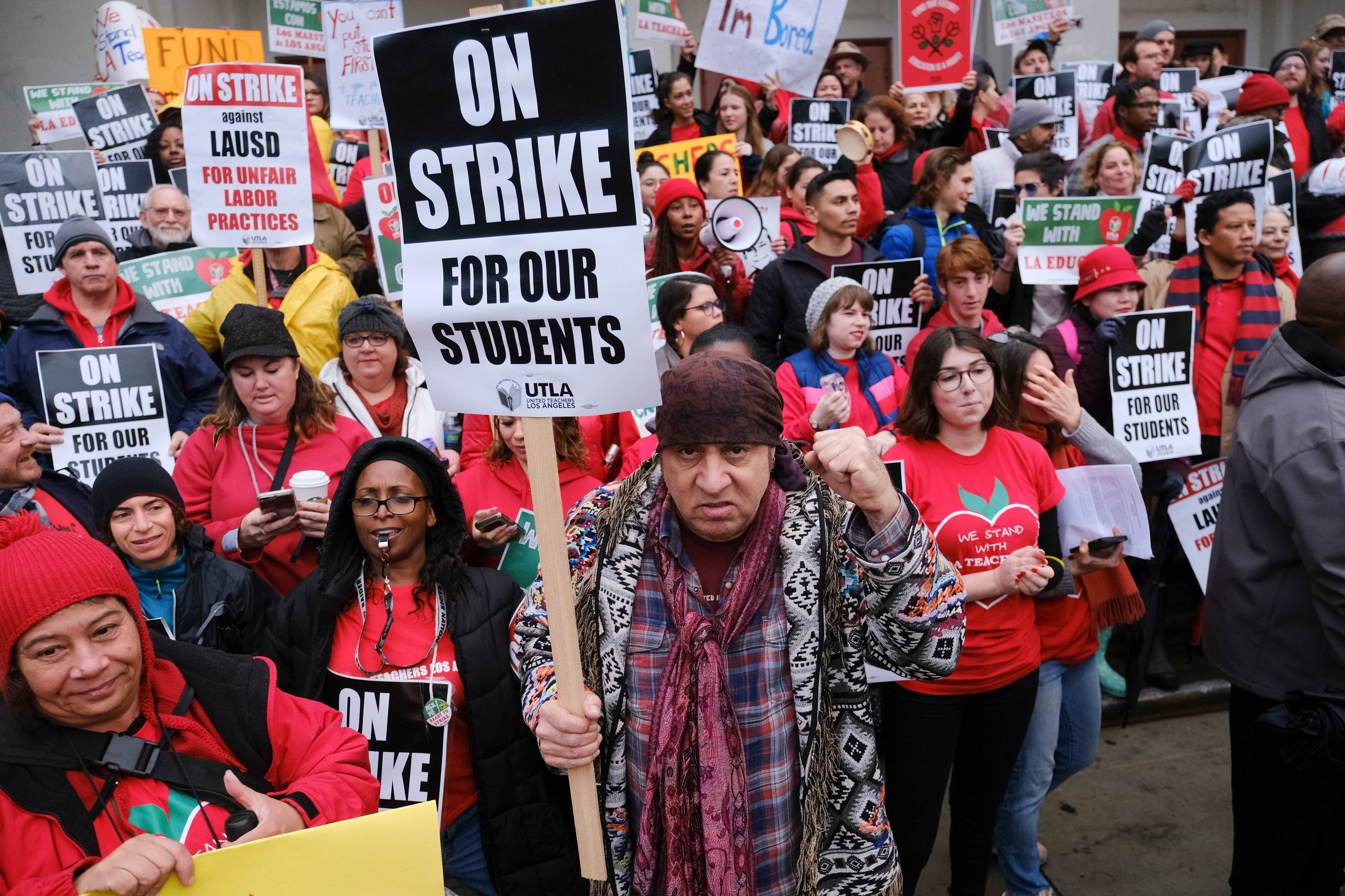 Los Angeles teachers' strike. (USA Today)