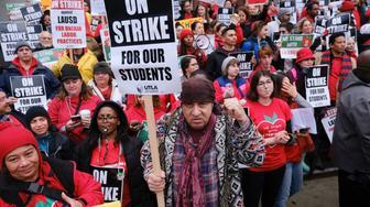 Los Angeles teachers' strike. (USA Today)