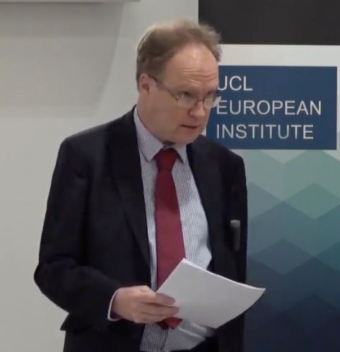 Sir Ivan Rogers speaking at University College London on Tuesday