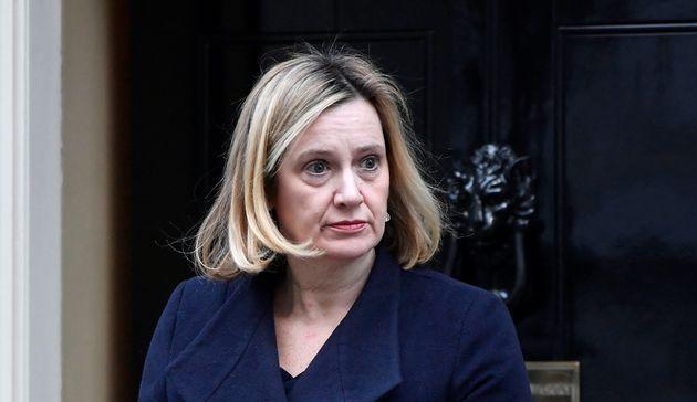 Work and Pensions Secretary Amber Rudd leaving
