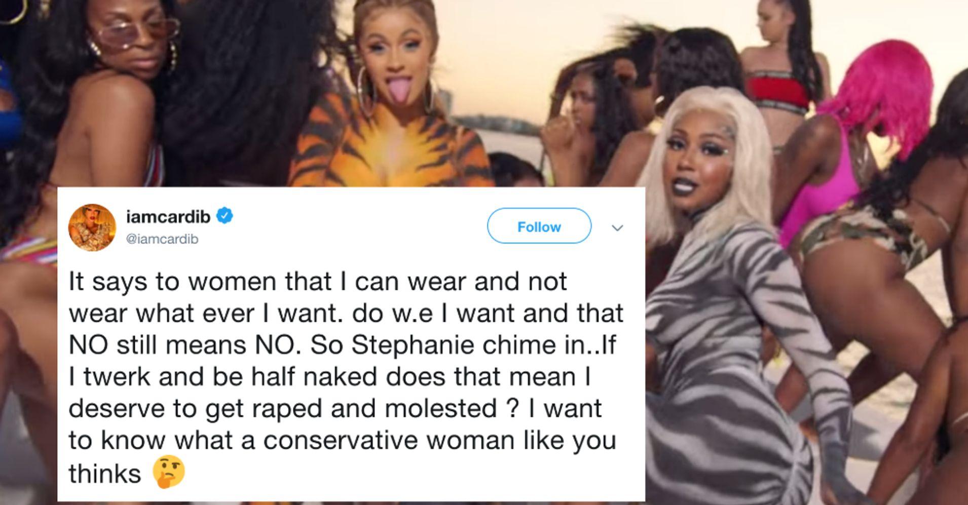 483b0f86433 Cardi B Slams Conservative Who Slut-Shamed Rapper's 'Twerk' Video: 'NO  Still Means NO' | HuffPost