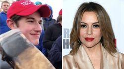 Alyssa Milano Calls Trump's Red MAGA Hats 'The New White