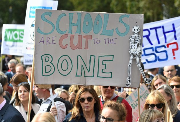 Headteachers march against school funding cuts last