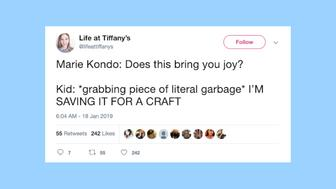 "Parents are tweeting about ""Tidying Up with Marie Kondo,"" and it's hilarious."