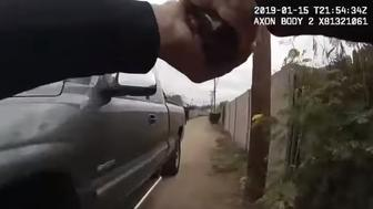 Newly released video footage shows an Arizona police officer shooting a teen who's sprinting away from him after allegedly committing a burglary.