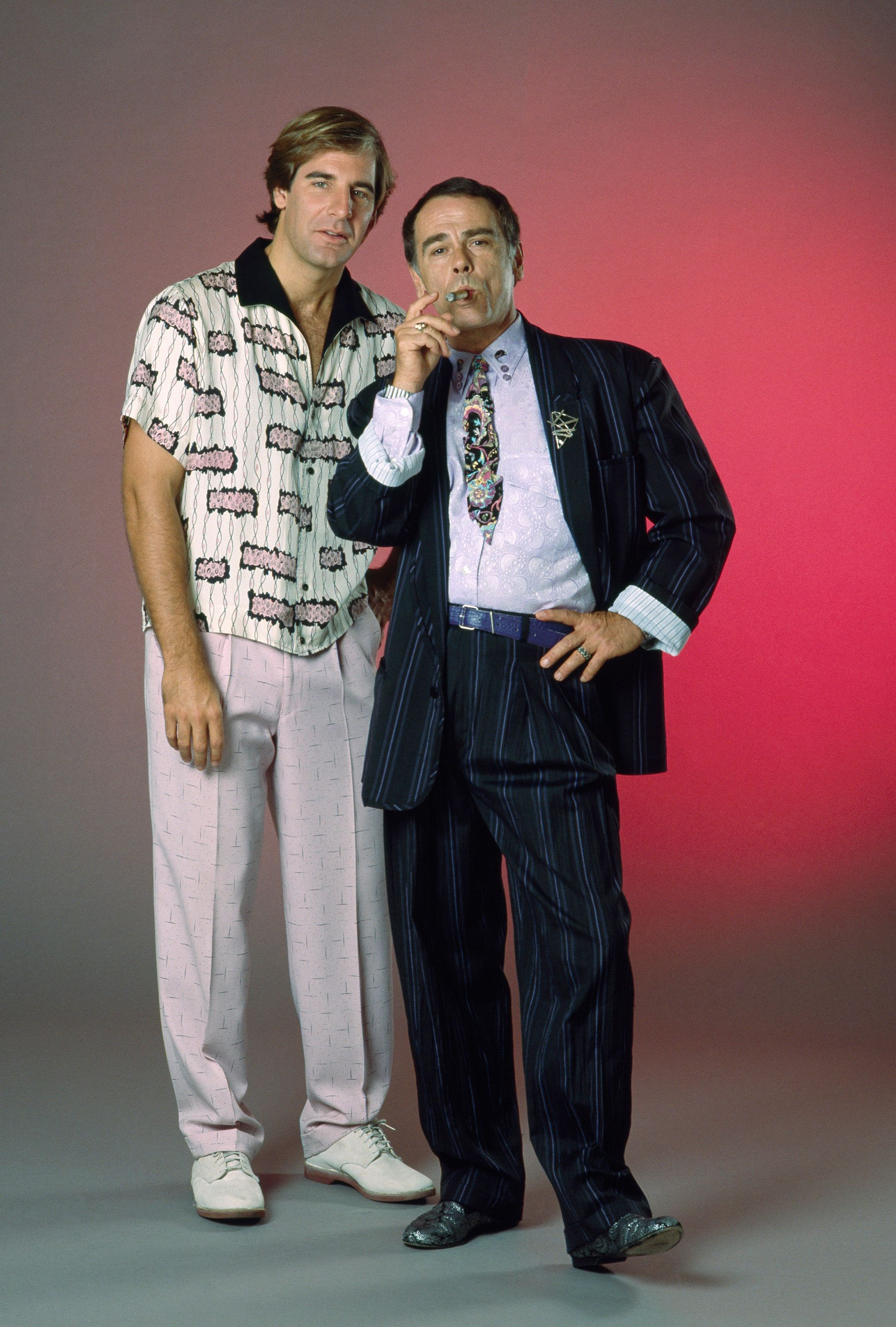 QUANTUM LEAP -- Season 2 -- Pictured: (l-r) Scott Bakula as Dr. Sam Beckett, Dean Stockwell as Admiral Al Calavicci  (Photo by NBC/NBCU Photo Bank via Getty Images)