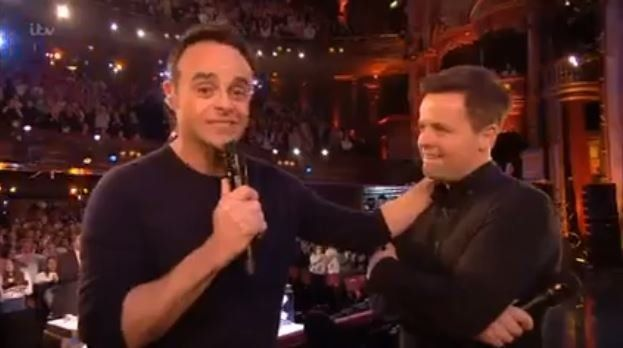 Ant was overwhelmed as he and Dec won Best Presenter at the