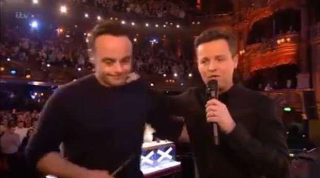 The pair appeared via live link-up from the 'Britain's Got Talent'