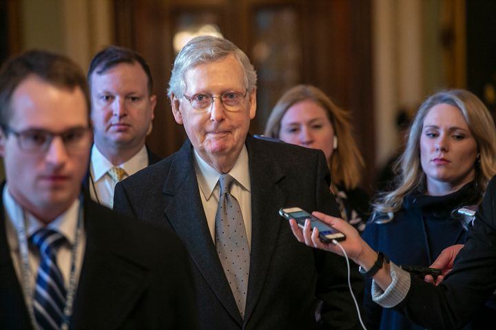 Republican Senate Majority Leader Mitch McConnell has refused to allow a vote on the House-passed measure to reopen the gover