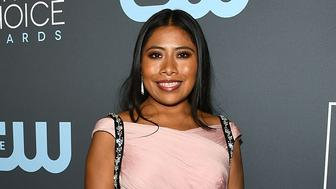 SANTA MONICA, CA - JANUARY 13:  Yalitza Aparicio at Claire Foy Accepts The #SeeHer Award At The 24th Annual Critics' Choice Awards The Barker Hanger on January 13, 2019 in Santa Monica, California.  (Photo by Araya Diaz/Getty Images for #SeeHer)